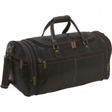 Distressed Leather Overnighter Duffel
